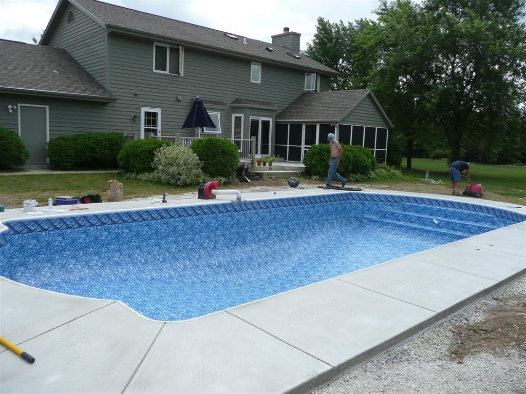 Inground pool dig pictures joy studio design gallery for Custom inground swimming pools