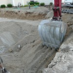 Once the Pool has been Compacted and the Stone Dry, Redig the Pool.