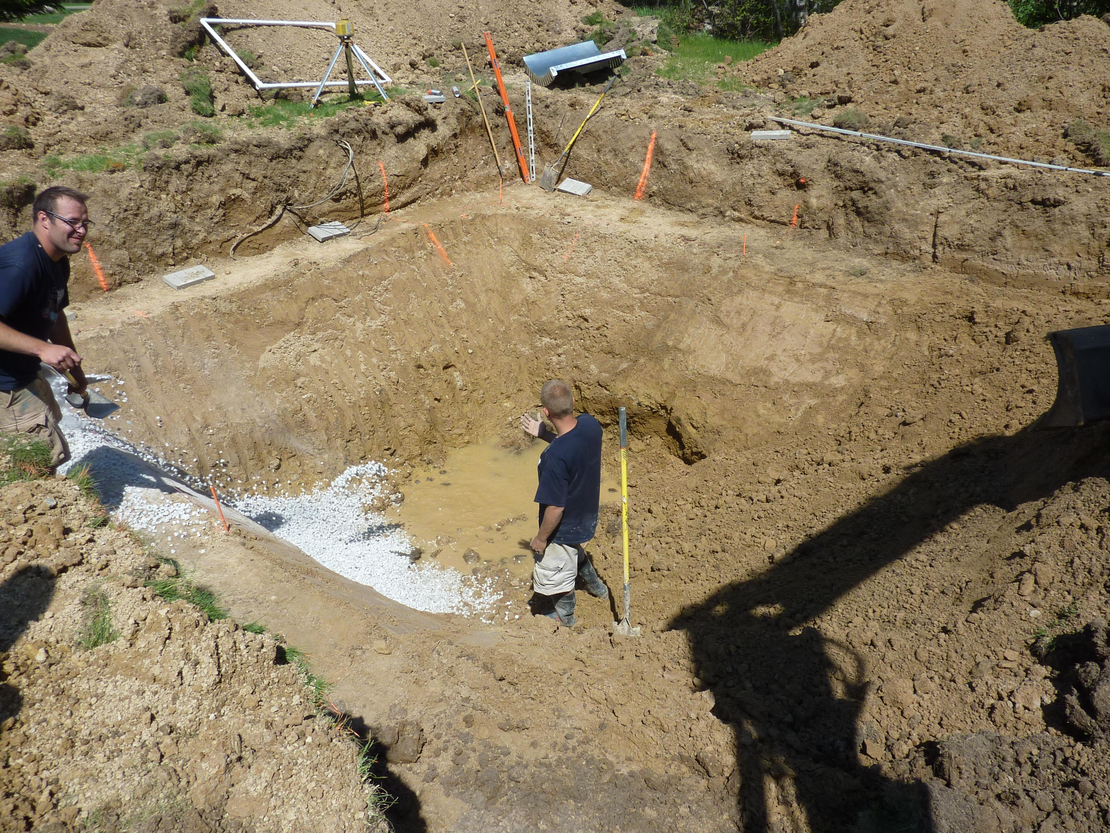 Penguin Pools over-digs the Sump for swimming pools