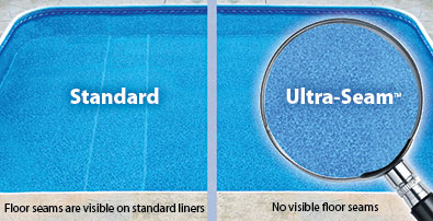 Penguin Pools Uses UltraSeam Vinyl Liners in our Swimming Pools