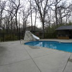 Free Form Pool Remodel gets Slide & Waterfall; Waterford
