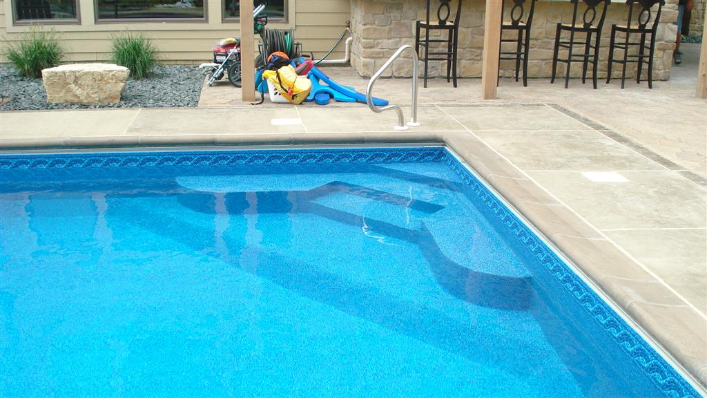 Custom Steel Pool Step MN