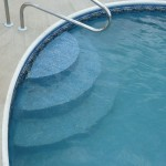 Wedding Cake Pool Steps with Liner Covering Racine, WI