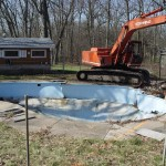 Old Fiberglass Pool Removed; Waterford, WI