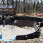 Black Polymer Flex Pool Walls Installed