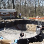 Vermiculite Pool Bottom is Installed in FreeForm Pool