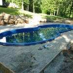 Form Around the Pool for Concrete