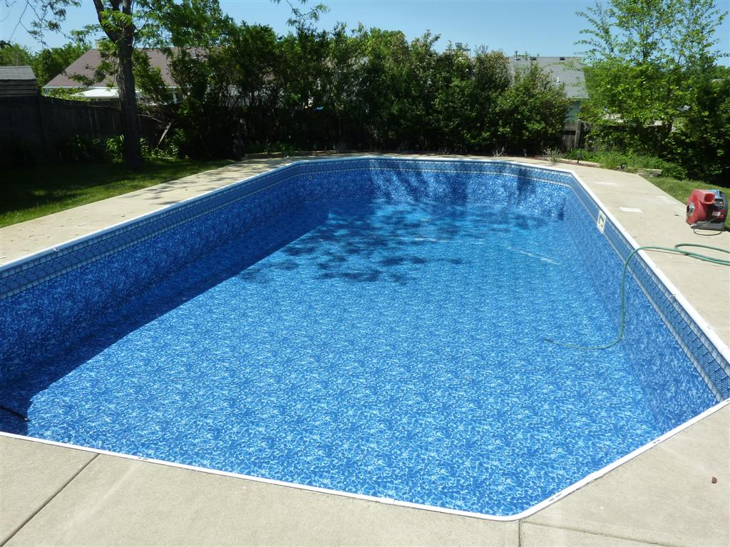 Swimming pool restoration repair portfolio completed for Vinyl swimming pool