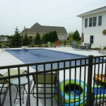 Fencing around New Vinyl Liner Pool Merton, WI