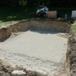 Create your Stone Bed for your Fiberglass Pool