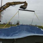 Pick Up Fiberglass Pool to Place in the Ground