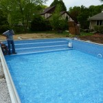 Steel End Steps in Vinyl Liner Pool in Brookfield, WI