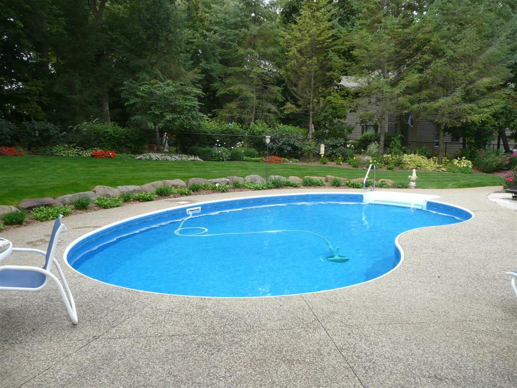 Curved Kidney Swimming Pool