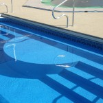 Inground Swimming Pool Steel Steps with Sun Ledge
