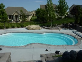 Fiberglass pool in Wisconsin