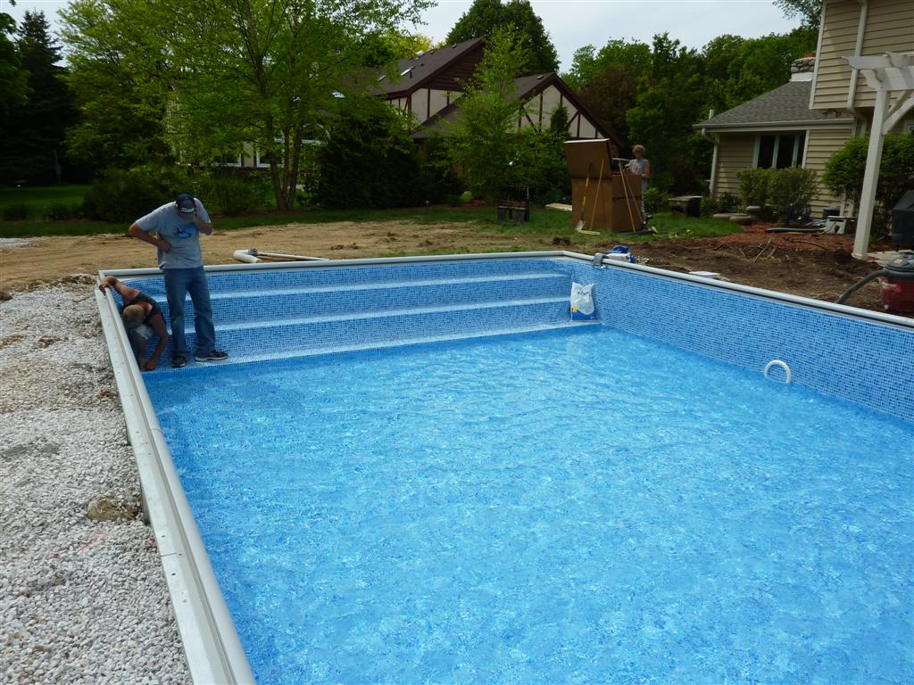 Custom Steel Inground Swimming Pool Steps Penguin Pools