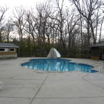 Free Form Pool with Waterfall and Slide; Waterford, WI