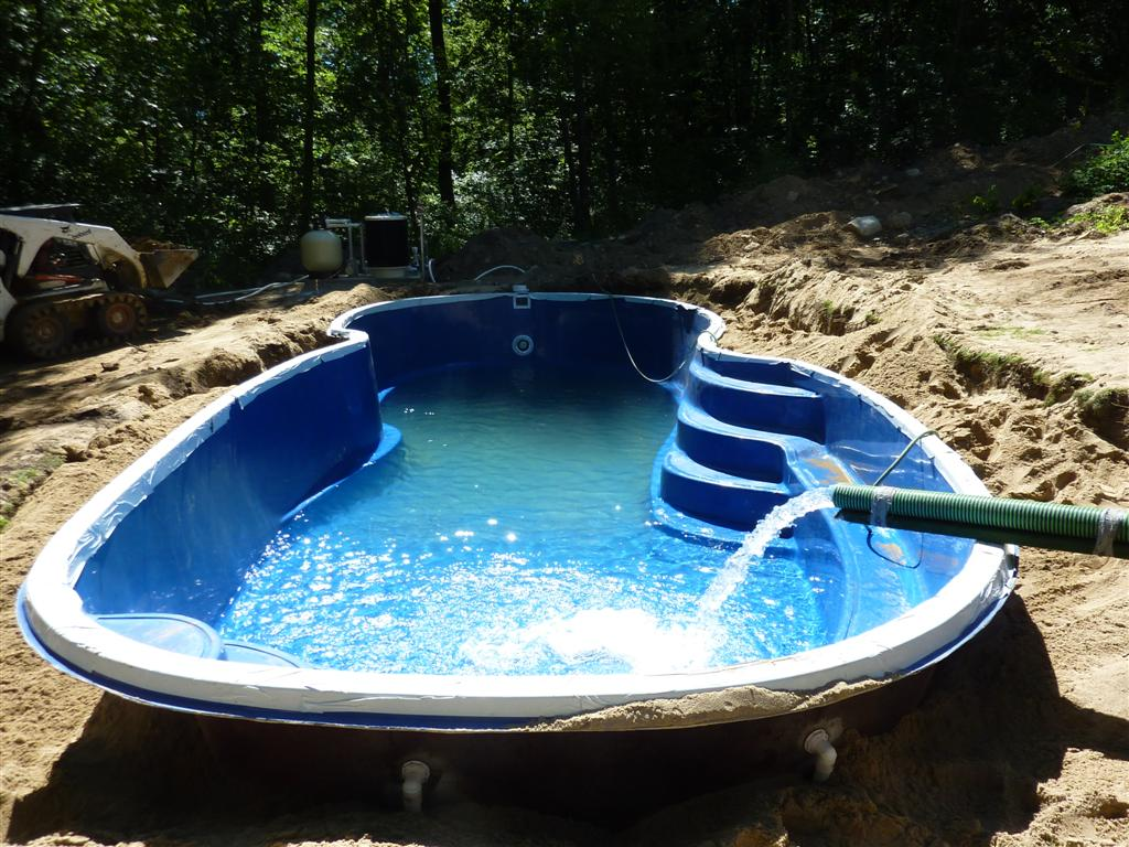 Fiberglass pool installation construction process for Pool prices