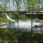 Old Concrete & Fiberglass Pool before Remodel in Waterford, WI