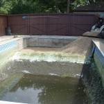 Pool Water Drained and Liner Removed