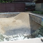 Liner Removed and Pool Drained, Ready for Stone