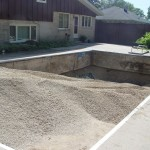 Stone in Pool Prior to Compaction