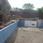 Pool Bottom Compacted and Formed with Polymer Pool Walls Installed