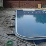 Polymer Vinyl Liner Pool Backfilled with Stone in Tosa WI