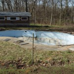 Old Inground Swimming Pool Fencing Removed; Waterford, WI