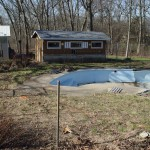 Old Chain Link Pool Fencing Removed