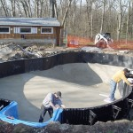 Vermiculite Pool Bottom and Cleaned Polymer Pool Walls WI