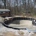 Polymer Pool Gets Backfilled with Rock; Waterford, WI