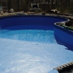 Wrinkles Removed from Liner Installed on FreeForm Waterford, WI Pool
