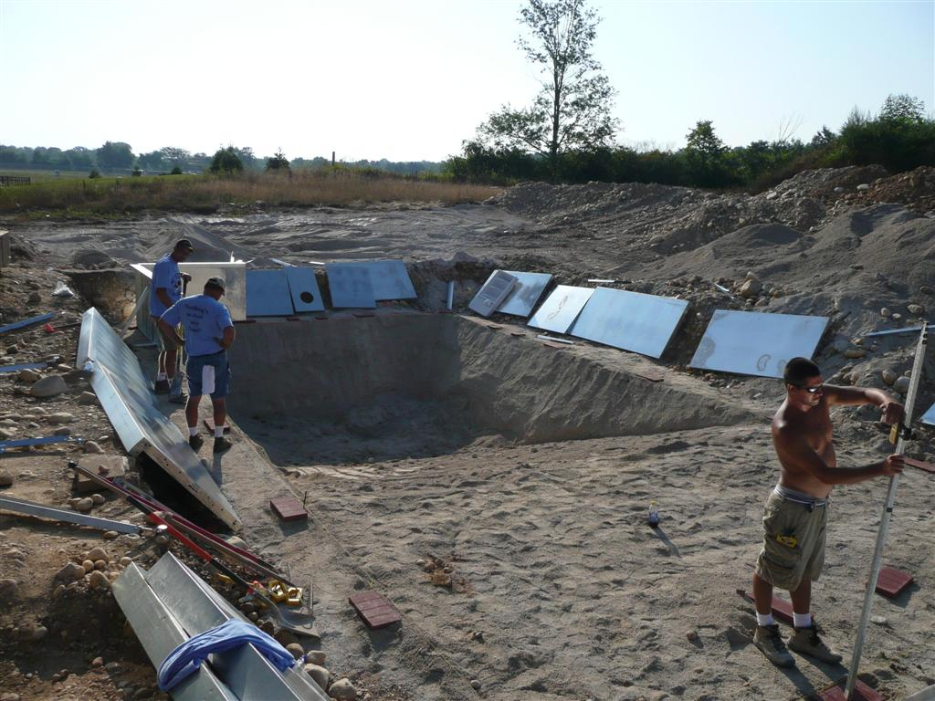Vinyl liner pool construction installation process - Steps to build an inground swimming pool ...