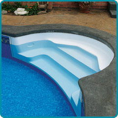 Inground Fiberglass Pool Steps For Vinyl Liner Pools