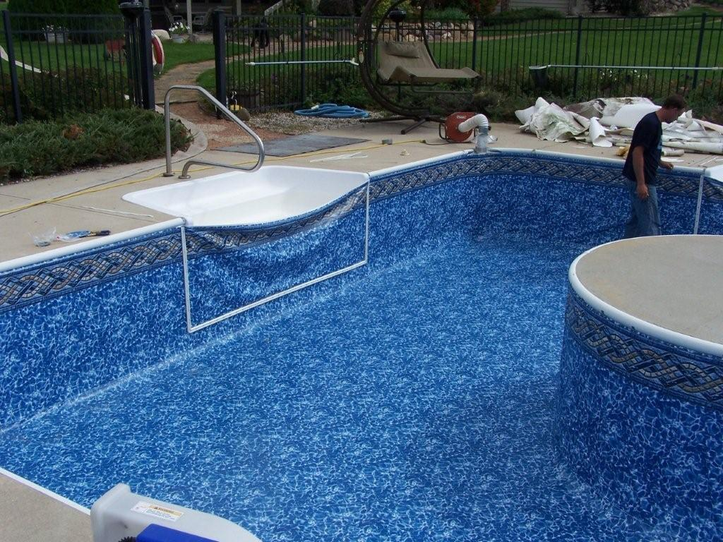 Pool steps for inground pools round designs for Fiberglass drop in pools prices