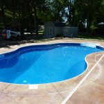 Stamped Inground Swimming Pool Concrete Muskego, WI