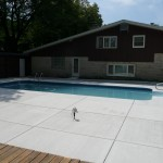 Concrere Finished around Swimming Pool in Wauwatosa, WI