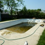 Old Swimming Pool Liner Removed, Oak Creek