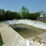 Pool Liner Drained Down