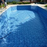 New Vinyl Liner Installed prior to Water in Oak Creek, WI