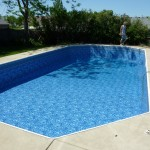Pool Water Added to Grecian Vinyl Liner Pool