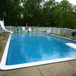 New Pool Liner Installed in Inground Swimming Pool