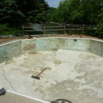 Pool Walls Cleaned and Ready for New Pool Liner