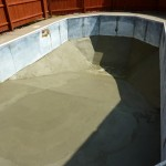 New Vermiculite Pool Bottom Prior to Liner Install; Brookfield