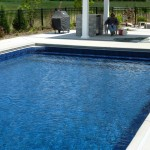 Custom Pool End Steps with Benches in Cedarburg WI