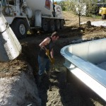 Pour Footing Around Vinyl Liner Swimming Pool, Menomonee Falls