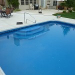 Walk In Pool Steps with Vinyl Liner Covering