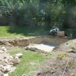 Excavate the Hole for the Fiberglass Pool, West Bend