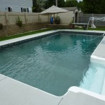 Cleaned & Repaired Inground Fiberglass Pool Step